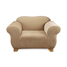 image of Sure Fit® Stretch Piqué Chair Slipcover