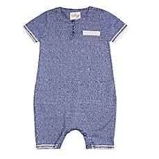 image of Cuddl Duds® Sweater Knit Shortalls in Blue
