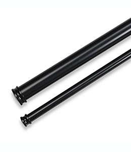 Cortinero doble Cambria® Premier Complete, de 1.21 a 2.23 m en negro satinado