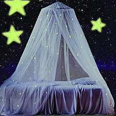 image of Glow in the Dark Canopy & Bed Canopies u0026 Mosquito Nets - Bed Bath u0026 Beyond