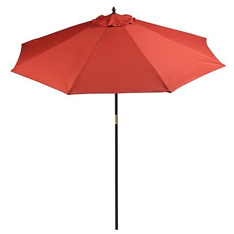 image of 9-Foot Round Hardwood Patio Umbrella - Patio Umbrellas & Shades - Gazebos, Patio Canopies - Bed Bath & Beyond