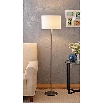 Image Of Kenroy Home Greta Floor Lamp In Brushed Steel