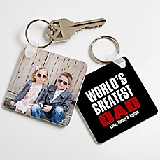 image of Best. Dad. Ever. Photo Keychain
