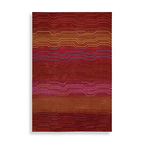 "Nourison Contour 5' x 7'6"" Hand Tufted Area Rug in Sunburst"