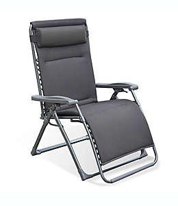 Silla reclinable y ajustable de aluminio en gris