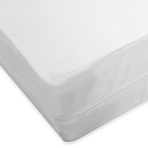 image of protectabed allerzip smooth full mattress encasement in white