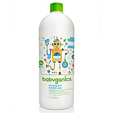 image of Babyganics® 32 oz. Fragrance-Free Foaming Dish & Bottle Soap Refill