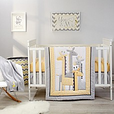 image of Little Love by NoJo® Giraffe Time 4-Piece Crib Bedding Set in Yellow