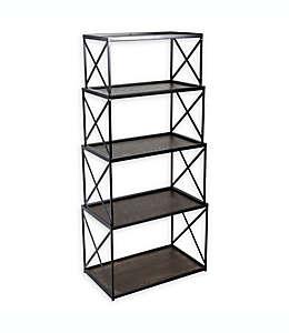 Repisas apilables en negro, Nesting Stackable Shelves Set de 4