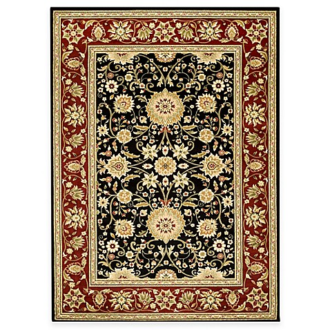 Safavieh Lyndhurst Collection 2-Foot 3-Inch x 6-Foot Rug in Black and Red