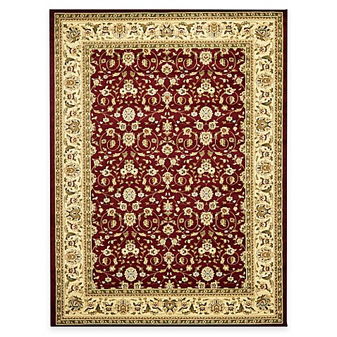 Safavieh Lyndhurst Red and Ivory Scrolling Pattern 4-Foot x 6-Foot Rectangle Rug