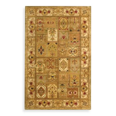 image of Safavieh Classic Wool Accent Rugs in Sage/Multicolor