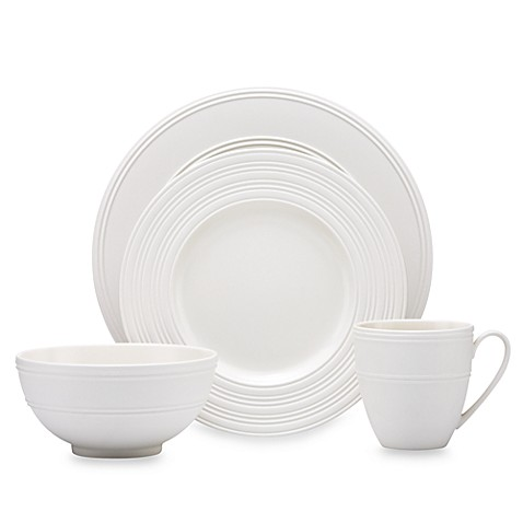 kate spade new york Fair Harbor™ 4-Piece Place Setting in White Truffle