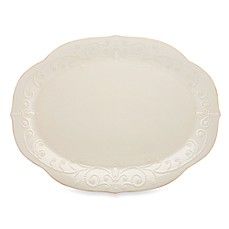image of Lenox® French Perle 16-Inch Oval Platter in White