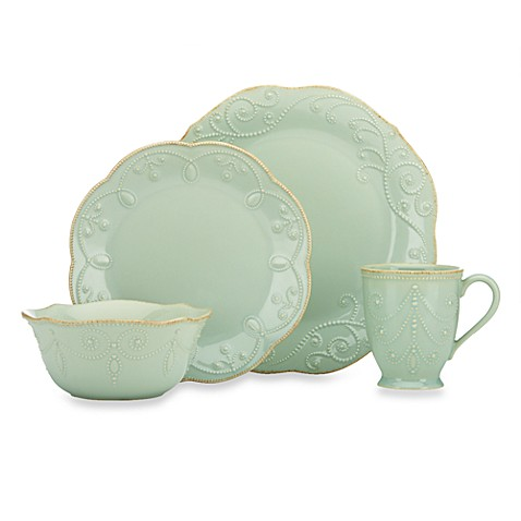 Lenox® French Perle™ 4-Piece Place Setting in Ice Blue