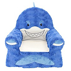 Delicieux Sweet Seats™ Plush Shark Chair In Blue