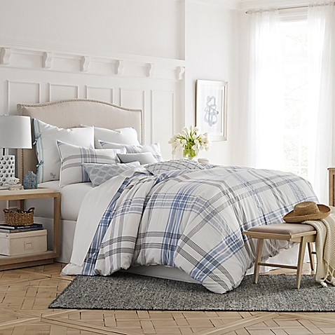 Southern tide sea breeze comforter set in white blue for Southern tide bedding
