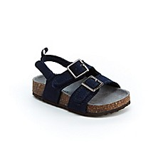 image of carters® Suede Cork Sole Sandal in Navy