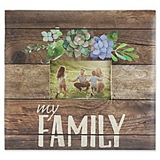 image of My Family Rustic Wood Scrapbook