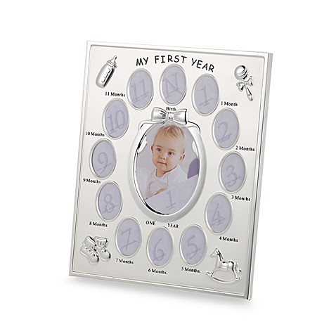 Prinz 1st Year Collage Frame in Silver Plated - buybuy BABY