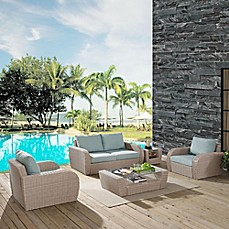 stylist and luxury better homes and gardens outdoor cushions. image of Crosley St  Augustine 5 Piece Resin Wicker Furniture Set with Cushions Patio Sets Chair Pads Seat more Bed Bath