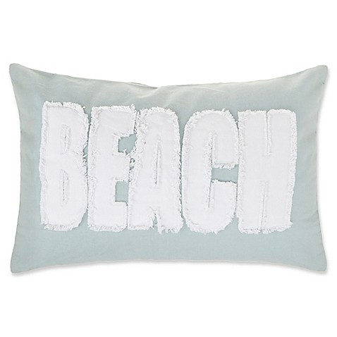 make-your-own-pillow beach oblong throw pillow cover in spa - bed Make Your Own Throw Pillow Covers