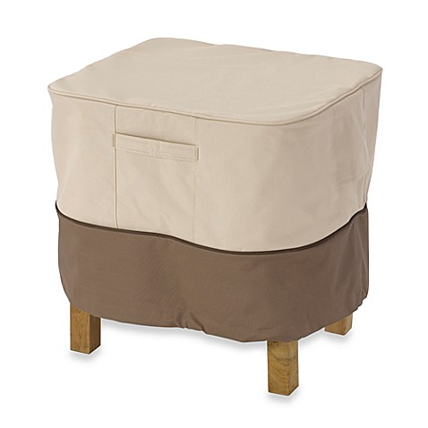 classic accessories veranda rectangular ottoman side table cover bed bath beyond. Black Bedroom Furniture Sets. Home Design Ideas