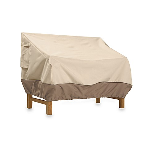 classic accessories veranda patio bench cover bed bath beyond. Black Bedroom Furniture Sets. Home Design Ideas