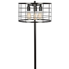 image of LumiSource Indy Wire Floor Lamp in Antique Black
