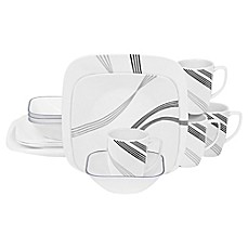 image of Corelle® Square™ Urban Arc 16-Piece Dinnerware Set