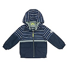image of OshKosh B'gosh® Striped Mesh Hooded Jacket in Navy