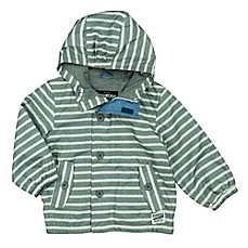 image of OshKosh B'gosh® Striped Mesh Hooded Jacket in Grey