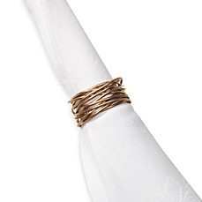 image of Twist Wire Napkin Ring in Brushed Gold