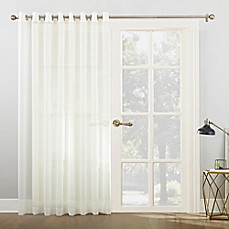 Bon 918 Emily Voile Grommet Top Sheer Sliding Door Patio Curtain Panel