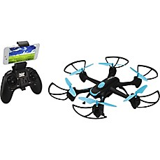image of Sky Rider Night Hawk Hexacopter Drone with Wi-Fi Camera in Black/Blue
