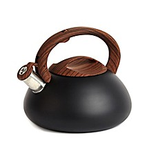 image of Sharper Image® 3.2 qt. Tea Kettle with Wood Soft Spray Handle