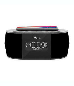 iHome™ Reloj despertador bluetooth con radio y bocinas en negro