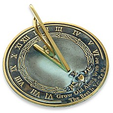image of Rome Industries®  Grow Old with Me Sundial in Brass
