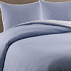 image of Real Simple® Clipped Jacquard Butterfly Duvet Cover Set