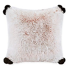 image of Intelligent Design Emma Shaggy Faux Fur Square Throw Pillow