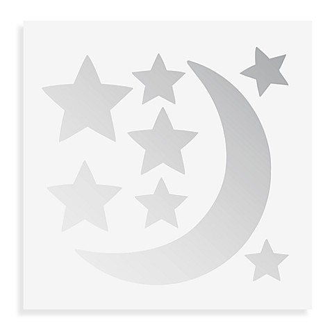 WallPops!® Wall Decals in Wall Mirror Art in Moon and Stars