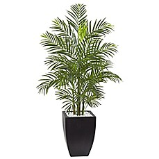 image of Nearly Natural 4.5-Foot Areca Palm Tree in Slate Planter