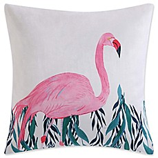 image of Christian Siriano Tropicalia Flamingo Throw Pillow