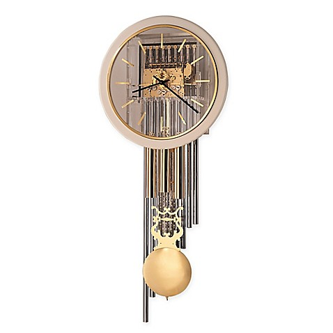 Howard Miller Focal Point Wall Clock in Polished Brass