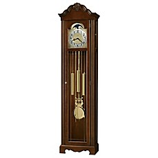 image of Howard Miller Nicea Floor Clock in Saratoga Cherry