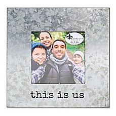 "image of Lawrence Frames ""This is Us"" 4-Inch x 4-Inch Cooper Galvanized Frame in Silver"