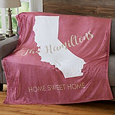 image of States Personalized 50-Inch x 60-Inch Fleece Blanket