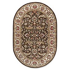 image of Surya Caesar Classic Hand-Tufted Oval Area Rug in Brown/Green