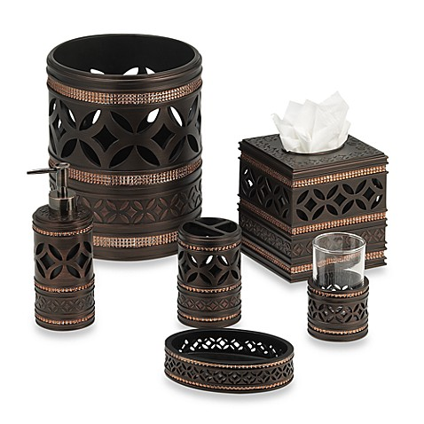 India Ink Anaka Boutique Tissue Box Holder in Bronze