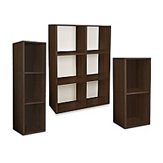 Way Basics Tool Free Assembly Bookcase And Storage Shelf In Espresso Wood  Grain